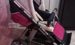 As good as new! Made in Germany. Beautiful stroller with large bassinet, foot brake. Heavy duty! 985-628-1527