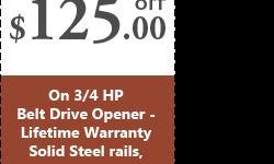 Looking for the available discounts on garage door opener? Contact @ (844) 326-6303, Dallas Garage Door Specialists, a leading company in California provides $125 off on HP Belt Drive garage door opener. Web: