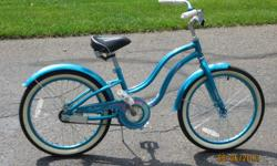 Girl's 2008 Raleigh Retro 20g Blue bike  paid $170 plus training wheels $20 plus tax $202.80 total.  Have owners manual.  Great condition!!!   Bike ideal for 6-9 year old girl.