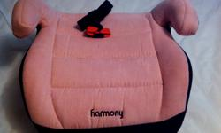 rarely used girl's pink booster car seat