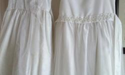 white girls dresses. can be used for communion or wedding. sizes 7 & 14 $5 each