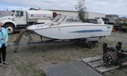 This boat comes with an Evinrude 55 HP motor setting on an 1990 SPCN Trailer. All for $500.