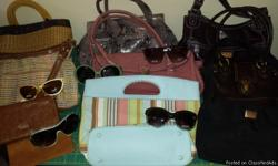 I have 6 purses,2 wallets and 4 pair of sunglasses..sunglasses still have tags.They are j-lo and candies .make me a offer call mark for more info 3174643335