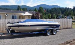 1998 GS 205 S/F. Volvo 13 hrs on neww Rebuilt 5.0L (250hp) fuel injected. Volvo outdrive. Trim indicator. Bimini top. Tilt up canopy top. cockpit & bow covers. Pioneer Premier AM/FM/CD Stereo. Transom bench seat. Live bait tank/well. Happy troller. 2 axle