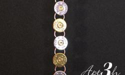 28 Guage and 45 Cal Gold and Silver Bracelet