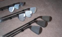 4i, thru PW, GW, SW, very good cond., used 1 season, stock- DG sl-300 steel-stiff shafts, standard length, lie,... golf pride tour velvet grips near new. call david, 912-354-7521