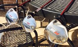 Taylor Made R9 3 wood and 5 wood regular flex shafts almost brand new must sell