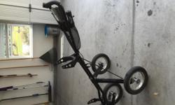 Sun Mountain 3 wheeled golf push cart. Good condition. Call 717-451-3058