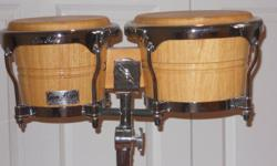 brand new gon bops bongos w/ sit down stand and travel bag