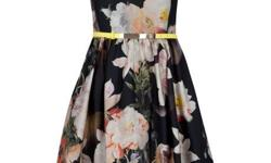 This romantic dress is the perfect dress. The opulent bloom print is elegant and the full skirt is tastefully feminine. All together this dress is sophisticated and classy, get it for your next event and you'll be sure to turn heads. For more info just