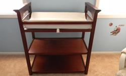 Graco changing table dark cherry colored in excellent condition only used for one year!