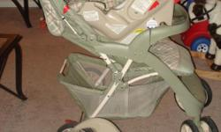 Graco travel system. Excellent condition. Green.