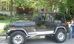This 1996 Jeep Wrangler is in Very good condition (interior/exterior) moderate rust, Hard top, 116,000 miles, no maintenance necessary, ready to drive. It has a 4cyl Automatic transmission, it has been mostly garage kept. Selling because my family has