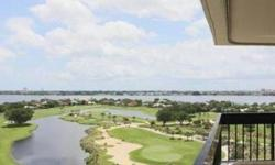 Luxury condo with spectacular views of the golf course & intracoastal, 10 minutes from City Place and Downtown West Palm Beach. Unit is fully furnished and was remodeled recently by a professional designer. 2 beds & 2 baths, 2 assigned pkg. spaces, and