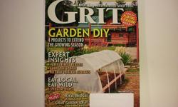 I am selling my issue of the Grit Magazine March/April 2016. This magazine is in like new condition. I just received it in the mail, so it is in like new condition. No stains or tears to the pages or the cover. $ 1.00 Auction, listed for 7 days. $