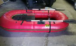 Water Master Grizzly Backpack Raft bought new but never been used. Now sells for $1495.00 and up. 7x8 long and 50 inches wide,one man raft. Raft weighs 23 lbs and folded and in bag weighs 40 lbs. Great to use for mountin streams