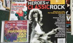 14 BACK ISSUES OG GUITAR WORLD, LEGENDS, ANNIVERSARY & ACUSTIC. INCLUDE: *BOB DYLAN *PINK FLOYD *THE BEATTLES *INXS *KIRK COBAIN *ALMANN BROS. AND MORE ALSO, 4 CDS ON PLAYING GUITAR. MAKE OFFER!