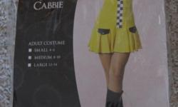 Halloween Womans-- Cabbie Girl- Worn 1 time Size Medium 8-10 costume includes Dress, lace up bust, name tag, fingerless gloves, collar and hat. Really cute costume. You can use black boots, or black heals. $25 949-589-8777