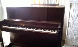 Antique Hamilton Baldwin Piano #134911 year made1956-1957 bought it through a friend it needs some furbishing and keys are chipped at the tip of the keysall but 2 also needs cabinet pullknobs none of the keys are stuck all play in