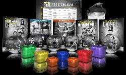 The Master's Hammer and Chisel Base Kit 14 WORKOUTS (7 DVD's) RUN TIME Balance Iso Strength Chisel Chisel Endurance Chisel Cardio Chisel Agility Total Body Chisel Hammer Plyometrics Iso Speed Hammer Total Body containers for food Storage
