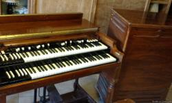 Hammond B3 with Leslie speaker. Good working condition. Some cosmetic wear.