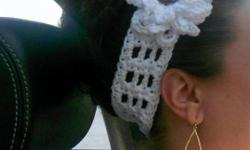 Hand-crochet, original headbands. Adjustable size child to adult. This one modeled on 32 yr. old young woman. Will make to order in the colors you want. Very fashionable today. Thanks for looking. $2 shipping and will combine shipping on multiple orders.