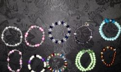 I make and have variety of Handmade jewelry for sale, from necklaces, earrings, and bracelets. The bracelets are made to stretch, all jewelry can be made in sets or sold individual. An attractive and beautiful statement with each different design to fit
