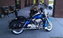 """Harley Davidson Road King Classic with 18""""apes, whitewall tires with approximately 3k miles on them, new brakes and battery. 2 DOT Helmets and a Harley Davidson leather jacket comes with the package. Never wrecked and garage kept, quick detach windshield"""