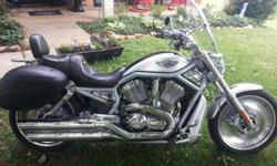 Harley Davidson 2003 V-Rod 100th Anniversary Special Edition. Excellent Condition. Many Extra; custom seat with Back Rest, Hard Bags, Screaming Eagle Pipes, Windshield, Swing Pegs and a lot of extra chrome. 8,000.00 or BestOffer