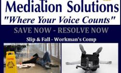 WORKMAN'S COMP CLAIMS SLIP - N - FALL CLAIMS Were you hurt at work? You will need to know your options! Did you fall at a business or someone's home? Mediation can help. Whether you have hired an attorney or you not sure what you would like to do next.