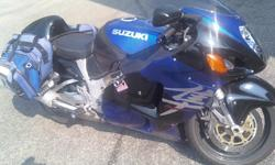 2002 Hayabusa, 48,000 miles, one owner, service records available, new tires, new chain. Corbin Seat, power commander, TRE Destrictor, extended fairing, braided brakelines, saddlebags included,excellent condition.Always garaged. NO PAY PAL. NO