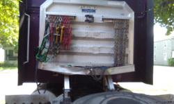 Aluminum headache rack for tractor trailer chain tray slightly bent can be repaired...