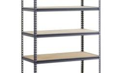 48 in. W x 72 in. H x 24 in. D Steel Commercial Shelving Unit Heavy-duty steel construction provides durability Shelves adjust every 1-1/2 in. for a customized storage space 4000 lb. capacity distributed over the entire unit Pick up from location Cash