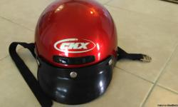 Red CKX riding helmet - size medium