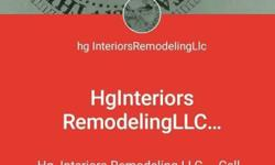 Remodeling removal all older materials install New one paintings cleaning Interiors in many more payment 1/2 front in other 1/2 when Hginteriorsremodelingllc finish job done ? please pay in time we respect your property in family thanks for your choice we