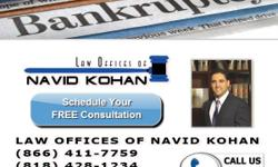 Hire a Reliable Attorney for Bankruptcy, NOT a Paralegal! Far more advantages hiring a California Licensed Attorney! Visit us at www.kohanlaw.com and learn more about Attorney Navid Kohan and our Law Firm! Call us for a Free No Obilgation Consultation @