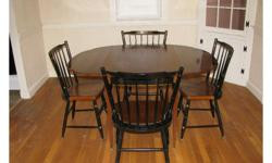 Hitchcock Table includes two leaves table pads, two armed chairs, two regular chairs for $795.00. Hitchcock Lamp table $200. Hitchcock Mirror $100 All items in perfect condition, like new! Call Skip in Concord, MA at 978-369-5294 or on his cell