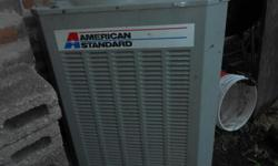 THIS IS A USED AMERICAN STANDARD AIR CONDITIONER CONDENSER WITH A NEW A COIL. NOT 100% POSITIVE ABOUT THE CONDENSER OPERATION BUT THE COIL HAS NEVER BEEN USED, IT JUST HAS A FEW BUMPS ON THE TOP COIL. I THINK THE PRICE IS FAIR, YOU CAN COME AND SEE IT IF