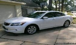For Sale is my 2008 Honda Accord EX-L 6cyl Sedan. Low Miles. This is the EX model which is fully loaded with everything but Navigation. The car has 55,151 Miles. If interested, please Contact: katie25bur@gmail.com The car is White Exterior with Tan