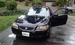 Honda Accord 2001 4 cilinders,169000 miles Black,2 doors,in good shape. Call425-443-6490 for detais