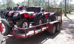 Very nice Package 2 Atvs 2006 Honda Rincon with trailer ready to go anywhere you want. One ATV has 281 hours of operation and the other one ATV 169, both works perfectly! Very very low hours. Annual service performed.