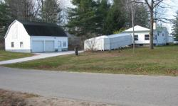TWO BEDROOM HOME WITH COVERED HANDICAPPED RAMP. --17751 55th AVE. BARRYTON, MI. 49305.-- 1 1/2 BATHS.--LARGE BARN, GARAGE--NEARLY NEW GAS WATER HEATER, AND 95% EFFICIENT GAS FURNACE--NEW ROOF--2/3 BASEMENT.--NEAR DIAMOND LAKE