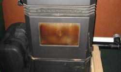 """Up for sale is a nearly new, only had 1/2 ton of pellets put through it at theend of last heating season, """"HUDSON RIVER STOVE WORKS"""", """" KINDERHOOK"""" PELLET STOVE. It comes with slate base ( value of$350.00), some pipe & 1/2 ton of bagged"""