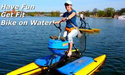 Pedal powered and propeller driven, the Hydrobike is turning heads all over Northern Michigan. Anyone that can ride a bike can operate this watercraft. Why sit in a cramped canoe or kayak when you can ride above the water and observe the beauty beneath