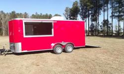 """Stock #: CUSTOM ORDER Serial #:ORDER Description: don't buy the industry standard wobbly.. This vending trailer is 100% tube framed and will be with you for the long haul. Options included are: 1. Red in color 2. 6"""" extra height 3. 30 amp electrical"""