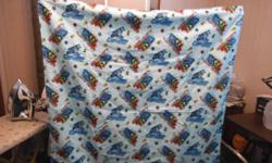 Matching blanket and carseat cover for little boy