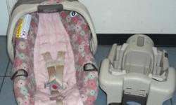 Gently used Graco Stylus infant (rear-facing)car seat with base, owner's manual included. $25.00 Very easy to clean, car seat cover can be washed in machine or it wipes clean with stain remover and wet cloth (I use Resolve Spray-n-Wash).