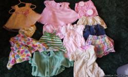Girls clothes 0-6 months. Baby was born in late May so gauge age accordingly wiht seasons. Includes dresses, bottoms, onesies, pajamas, and socks.
