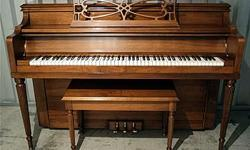 """* Walnut Finish * Original Bench * Plays Well, Very Even Feel Across the Entire Keyboard * Built in 1963 * Serial Number: 98855 * Dimensions: width: 58"""" x height: 40 3/4"""" x depth: 24"""" * Owned by a Piano Tuner-Technician * Located in North Grafton,"""