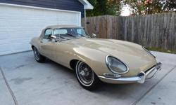 1967 Jaguar XKE series 1 covered headlight 4.2L roadster 4 speed manual transmission    drivetrain is all original numbers matching.